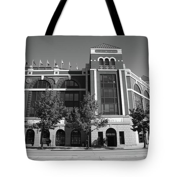 Texas Rangers Ballpark In Arlington Tote Bag by Frank Romeo