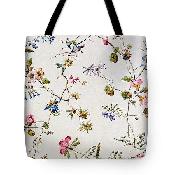 Textile Design Tote Bag by William Kilburn
