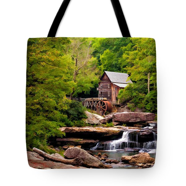 The Grist Mill Painted  Tote Bag by Steve Harrington