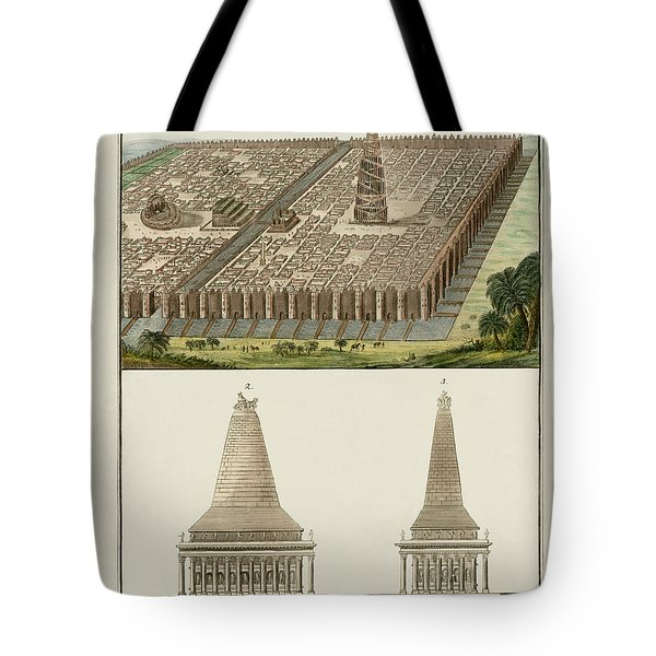 The Seven Wonders Of The World Tote Bag by Splendid Art Prints