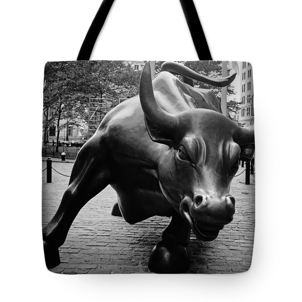 The Wall Street Bull Tote Bag by Pixabay