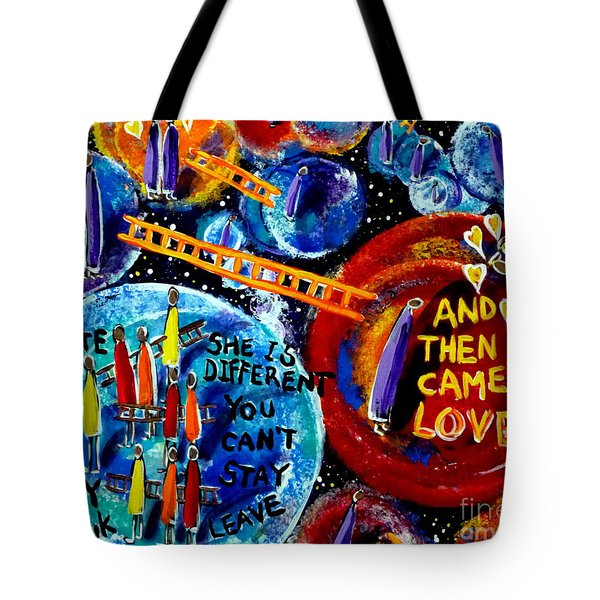 Then Came Love Tote Bag by Jackie Carpenter