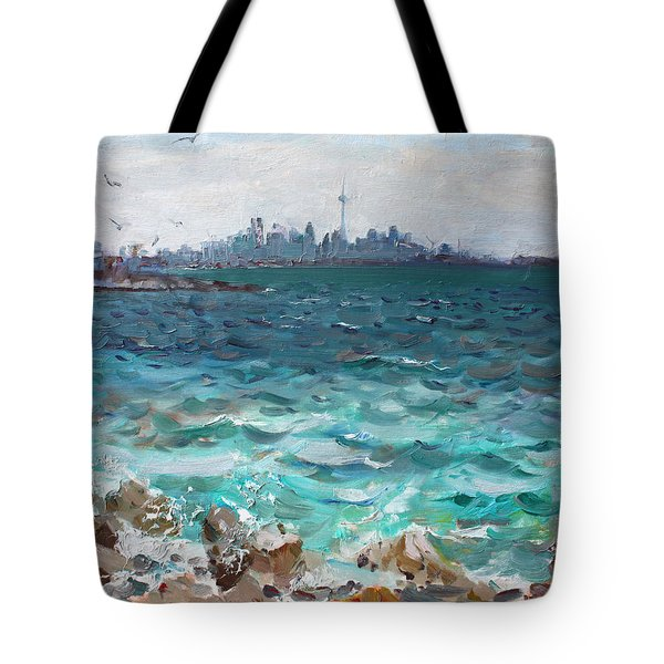 Toronto Skyline Tote Bag by Ylli Haruni