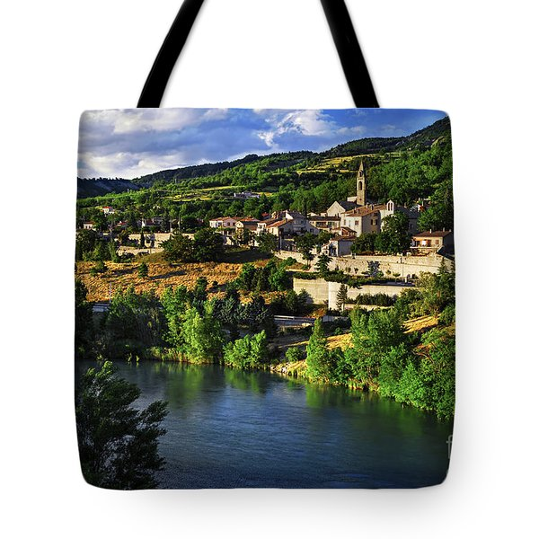 Town Of Sisteron In Provence Tote Bag by Elena Elisseeva