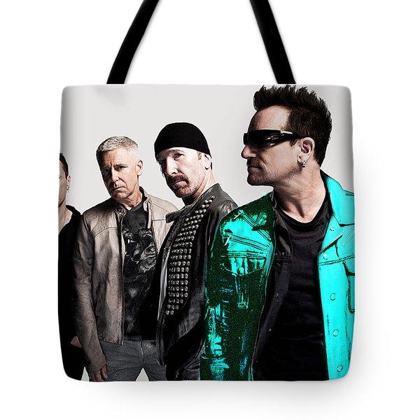 U2 Tote Bag by Marvin Blaine
