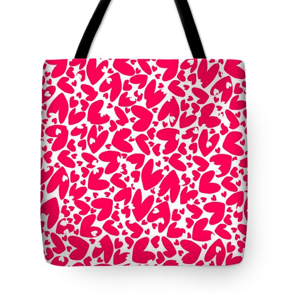 Valentines Day Card Tote Bag by Louisa Knight