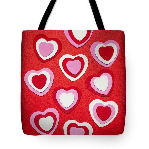 Valentines Day Hearts Tote Bag by Elena Elisseeva