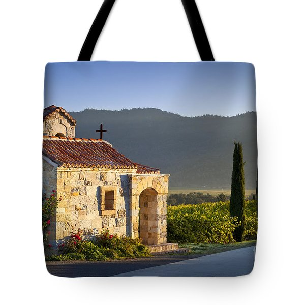 Vineyard Prayer Chapel Tote Bag by Brian Jannsen