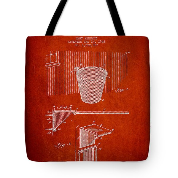 Vintage Basketball Goal Patent From 1925 Tote Bag by Aged Pixel