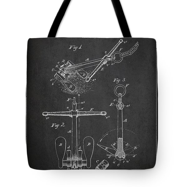 Vintage Ship Anchor Patent From 1892 Tote Bag by Aged Pixel