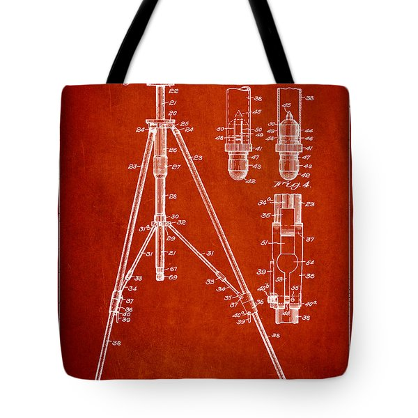 Vintage Tripod Patent Drawing from 1941 Tote Bag by Aged Pixel