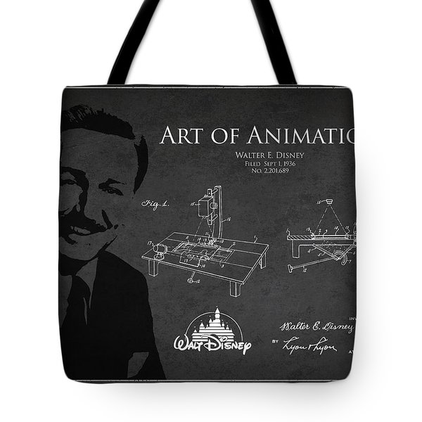 Walt Disney Patent From 1936 Tote Bag by Aged Pixel