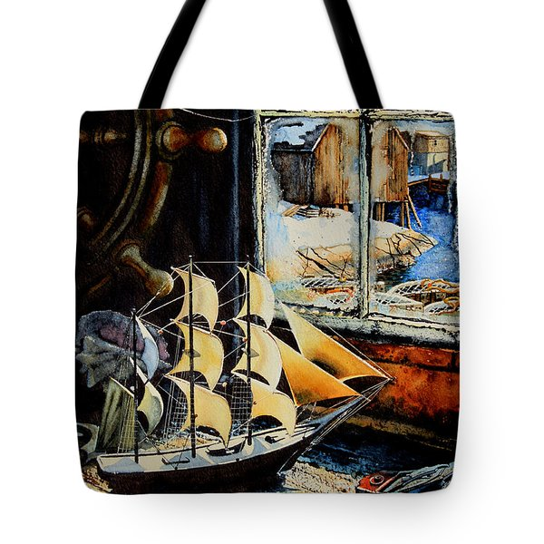 Warm Winter Pastime Tote Bag by Hanne Lore Koehler