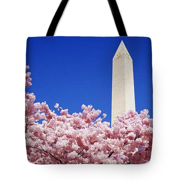 Washington Monument Washington Dc Tote Bag by Panoramic Images