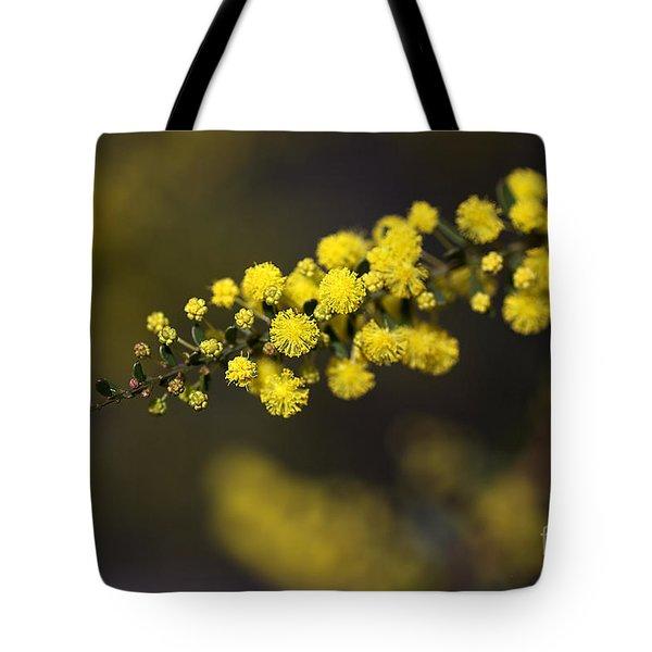 Wattle Flowers Tote Bag by Joy Watson