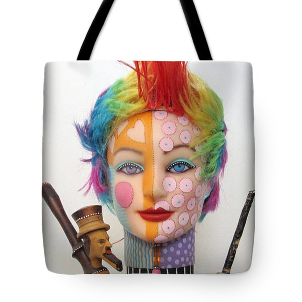 What The Hell Was She Smoking Tote Bag by Keri Joy Colestock