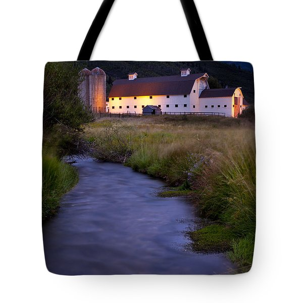 White Barn Tote Bag by Brian Jannsen