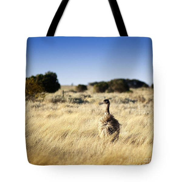 Wild Emu Tote Bag by Tim Hester