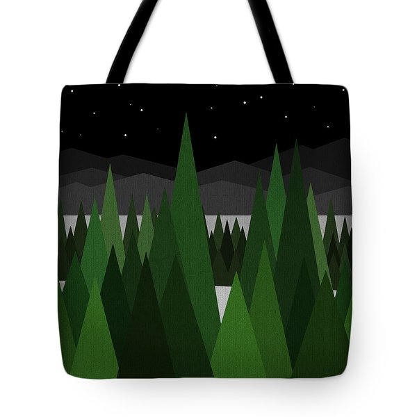 Winter Night Tote Bag by Val Arie