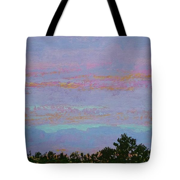 Winter Sunset Tote Bag by Gail Kent