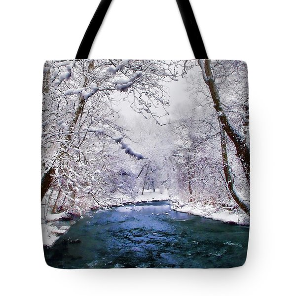 Winter White Tote Bag by Jessica Jenney