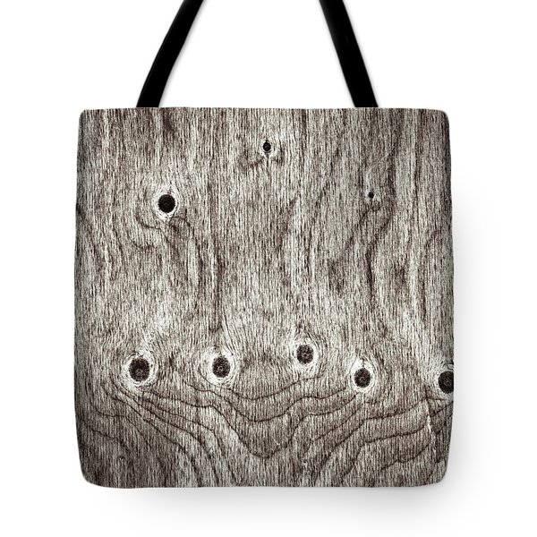 Wooden Background Tote Bag by Tom Gowanlock
