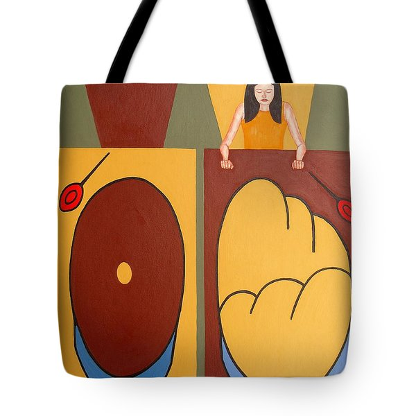 2 WORLDS Tote Bag by Patrick J Murphy