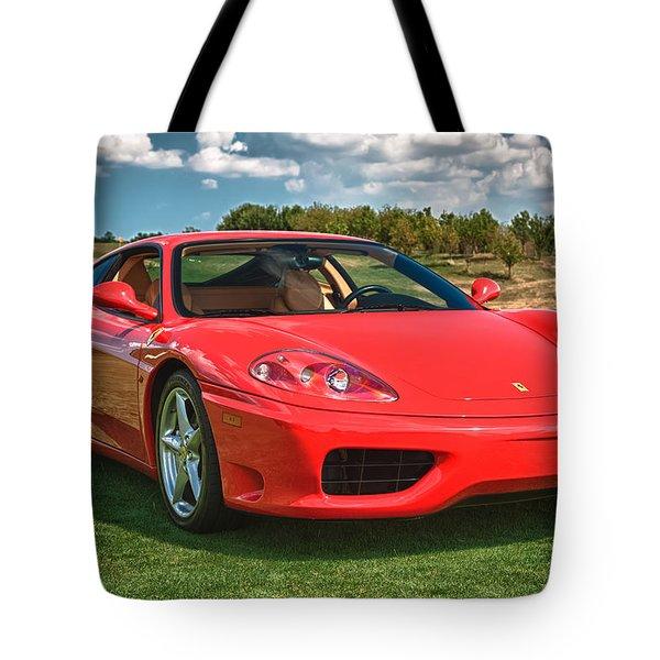 2001 Ferrari 360 Modena Tote Bag by Sebastian Musial