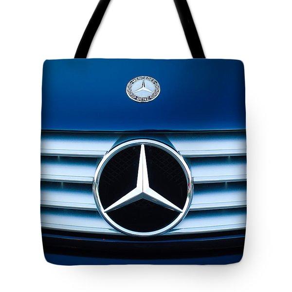 2003 CL Mercedes Hood Ornament and Emblem Tote Bag by Jill Reger