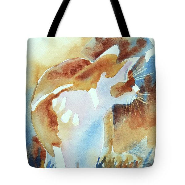 2004 Cat On The Prowl  I  Tote Bag by Kathy Braud