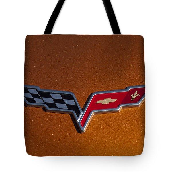 2007 Chevrolet Corvette Indy Pace Car Emblem Tote Bag by Jill Reger
