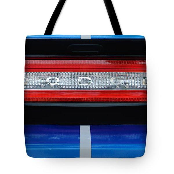 2011 Dodge Challenger RT Hemi Taillight Emblem Tote Bag by Jill Reger