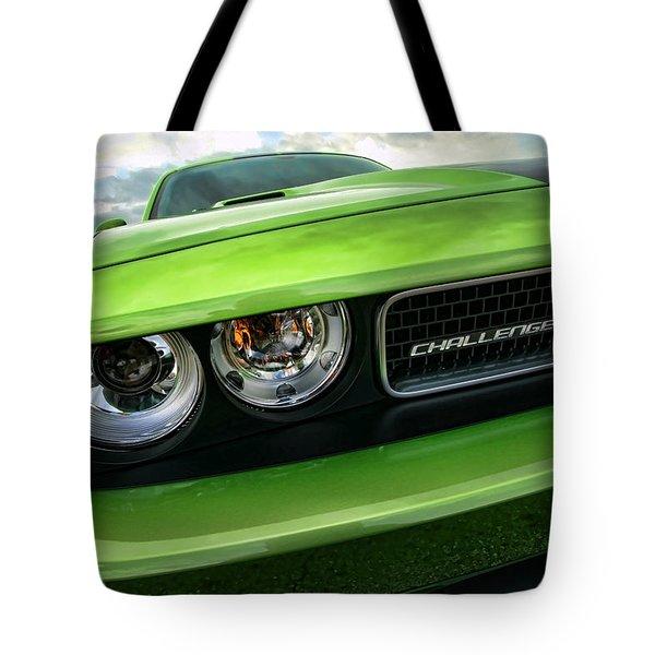 2011 Dodge Challenger Srt8 Green With Envy Tote Bag by Gordon Dean II