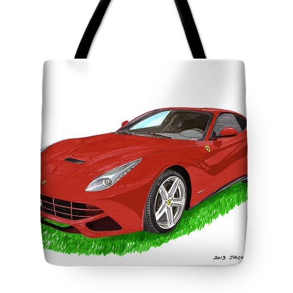 2012 F12 Ferrari Berlinetta Gt Tote Bag by Jack Pumphrey