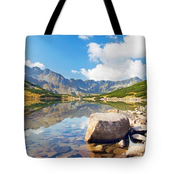 Mountains Landscape Tote Bag by Michal Bednarek