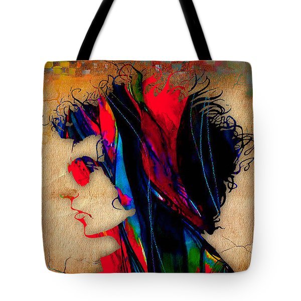 Bob Dylan Tote Bag by Marvin Blaine
