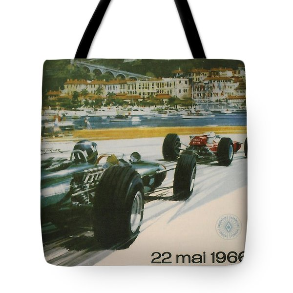 24th Monaco Grand Prix 1966 Tote Bag by Nomad Art And  Design