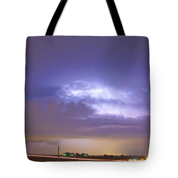 25 To 34 Intra-cloud Lightning Thunderstorm Tote Bag by James BO  Insogna