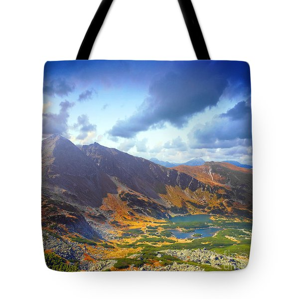 Mountains Landscape Tote Bag by Michal Bednarek