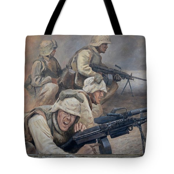 29 Palms Mural 1 Tote Bag by Bob Christopher