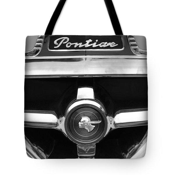 1951 Pontiac Streamliner Grille Emblem Tote Bag by Jill Reger