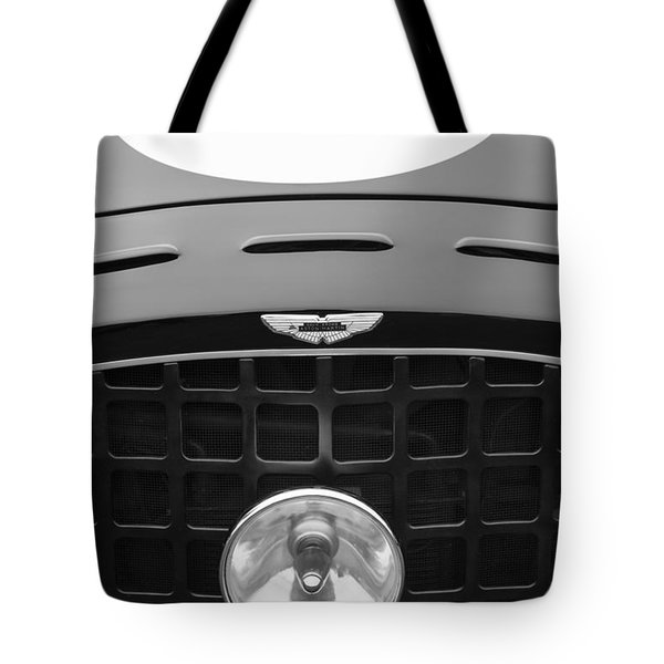 1952 Aston Martin Db3 Sports Hood Emblem Tote Bag by Jill Reger