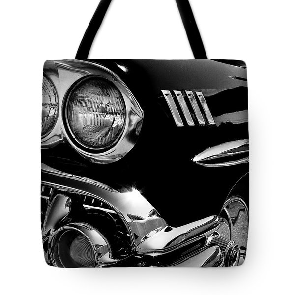 1958 Chevy Impala Tote Bag by David Patterson