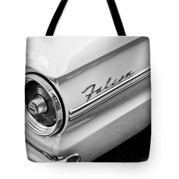 1963 Ford Falcon Futura Convertible Taillight Emblem Tote Bag by Jill Reger