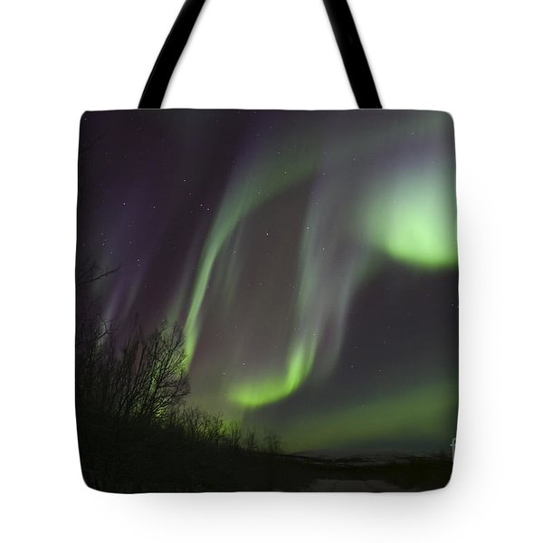Aurora Borealis By Fish Lake Tote Bag by Joseph Bradley