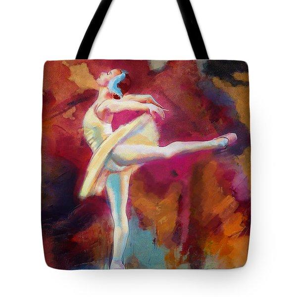 Ballet Dancer Tote Bag by Corporate Art Task Force