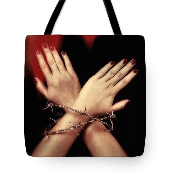 Barbed Wire Tote Bag by Joana Kruse