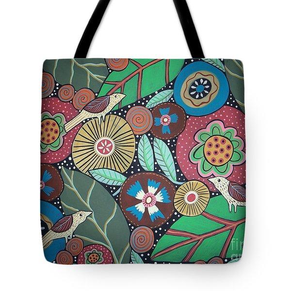3 Bird Botanical Tote Bag by Karla Gerard
