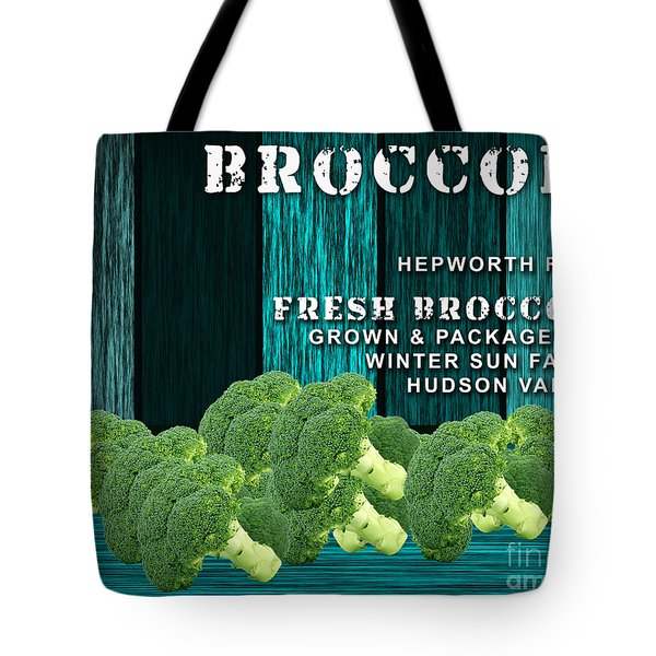 Broccoli Farm Tote Bag by Marvin Blaine