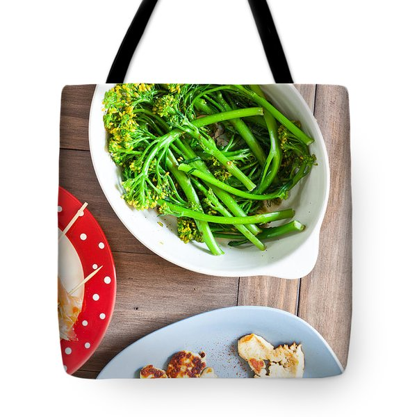 Broccoli Stems Tote Bag by Tom Gowanlock